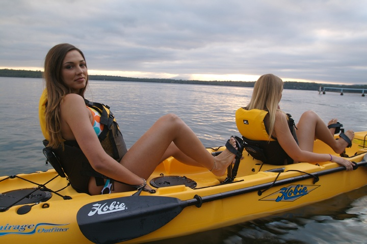 rent a Hobie Mirage Outfitter kayak- peddling is the way to go. I'm a convert.