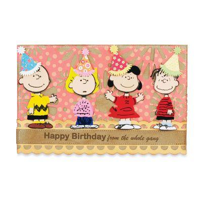 Peanut gang birthday card