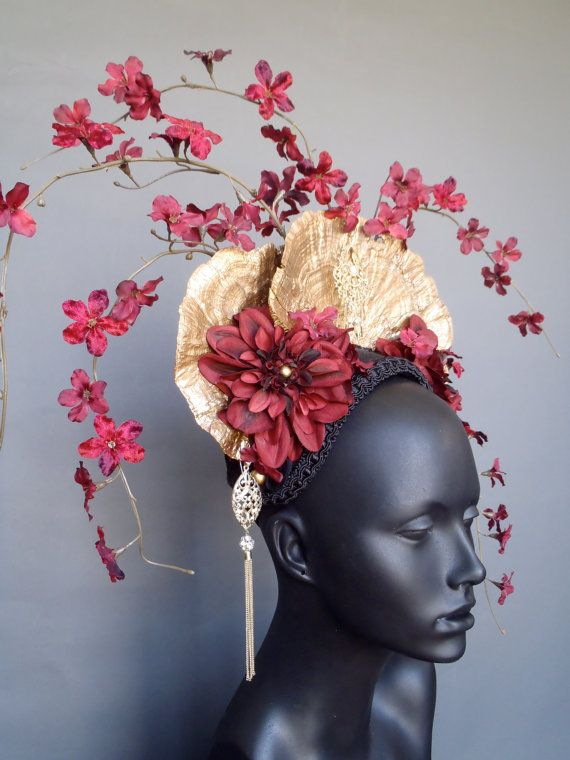Gold Fungus & Flower Headdress