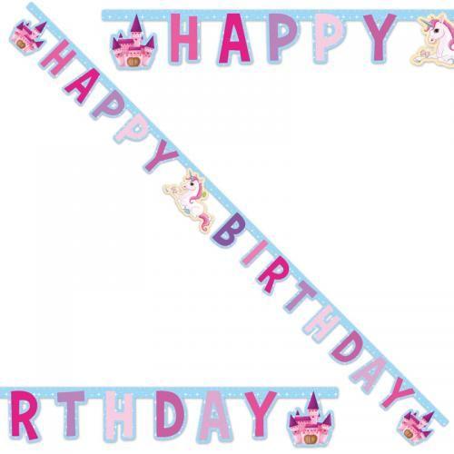 Enhörning Happy Birthday Girlang - Partyhallen.se