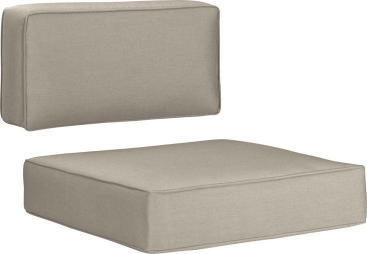 Ventura Sunbrella® Stone Modular/Lounge Chair Cushions  | Crate and Barrel