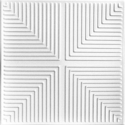 "Pyramid Illusion - Styrofoam Ceiling Tile - 20""""x20"""" - #R06"