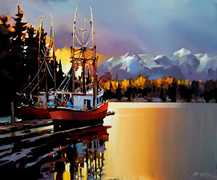 Docked on the Stillness, by Michael O'Toole