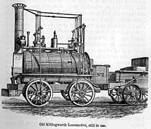 Locomotive constructed in 1816 by Stephenson for the Killingworth Colliery