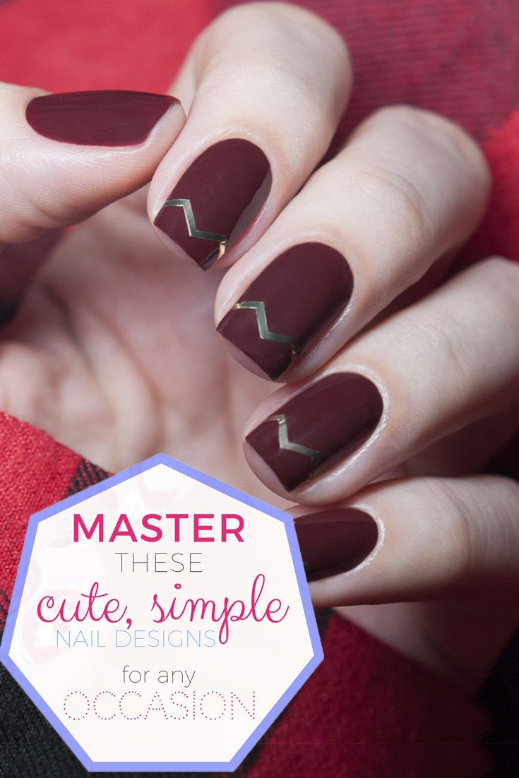 25 Simple Nail Art Tutorials For Beginners - DIYs.com