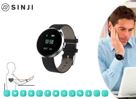 Dagaanbieding: Sinji health-smartwatch - voor Android en iOs - meet o.a. je hartslag en bloeddruk