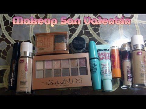 Maquillaje para San Valentin usando productos MAYBELLINE colaboración