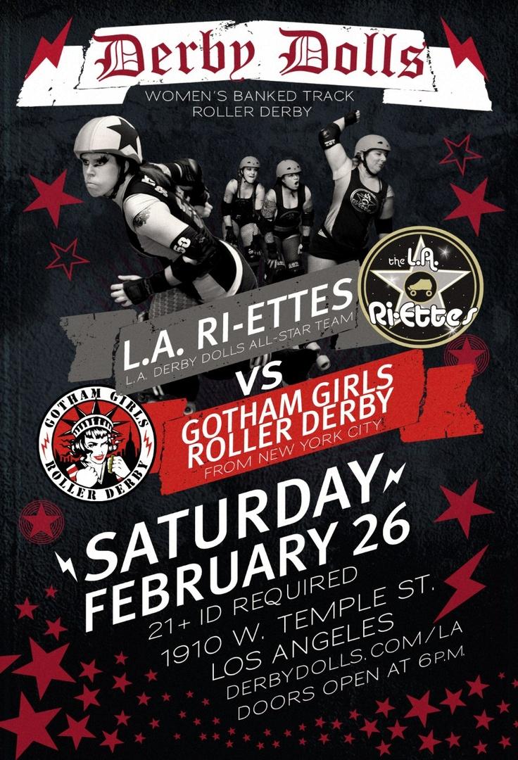 LA Derby Dolls Flyer : Ideabeast Design AND my favorite skater Raven Seaward!