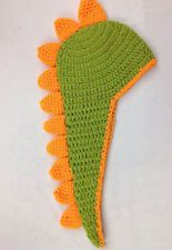 Crochet Cap Green Color Beanies Baby Hat Girl Boy Beanies Child Dinosaur Hats