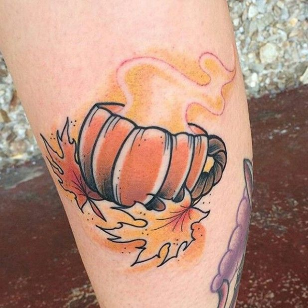 This is adorable! 15 Heart-Warming Autumn Tattoos