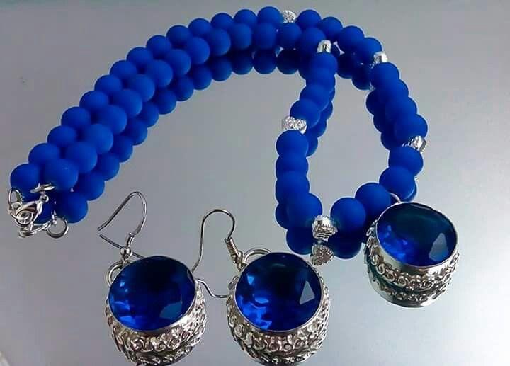 Orlov Jewellery-Hydro cuart -Royal Blue