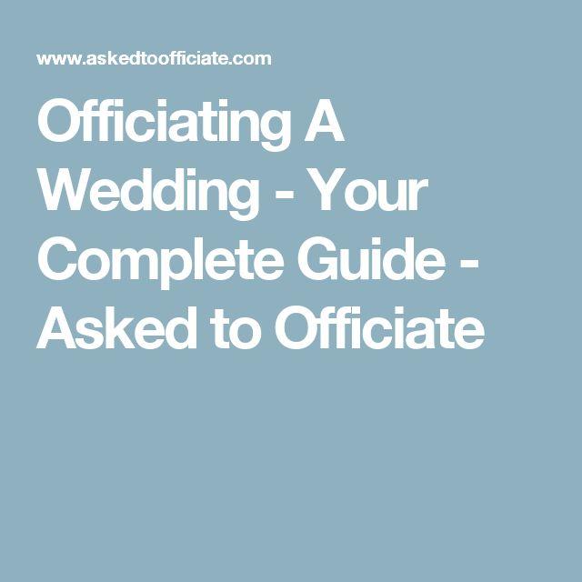 Wedding Officiant Speech Ideas: Officiating A Wedding