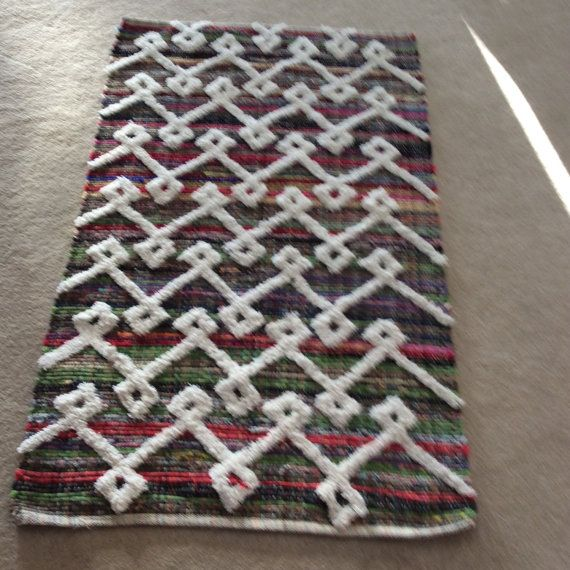 Rag Rug / Chindi Floor j / Scandinavian Area by TheThreadingHouse