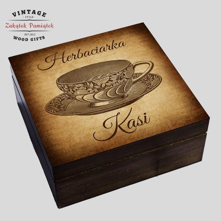 herbaciarka drewniana, prezent dla babci