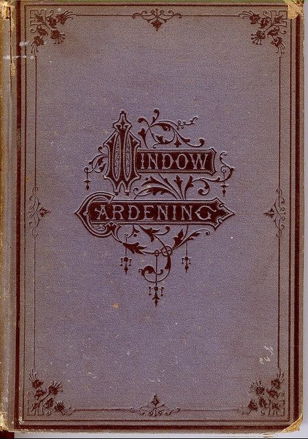 Vintage Book Cover Shirts : Vintage book window gardening bookbinding leather