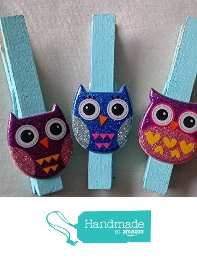 Decorative Clothespins With Happy Owls for Office Organization~ Children's Party Favors ~ Hostess Gift ~ Classroom Decorations ~ Teacher Appreciation from Coastal Charm Decor http://www.amazon.com/dp/B01748KG4A/ref=hnd_sw_r_pi_dp_7A3Xwb0T80NJB #handmadeatamazon