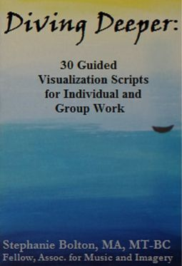 *NEW* e-book up on the e-shelves.  30 Visualization Scripts for Individual/Group sessions!! The author, a board certified music therapist, includes specific music suggestions for each script as well as suggestions for implementing these scripts with your clients. If you've been looking for ways to deepen your clients' experiences and growth, this book will provide you with the necessary tools to accomplish that task.