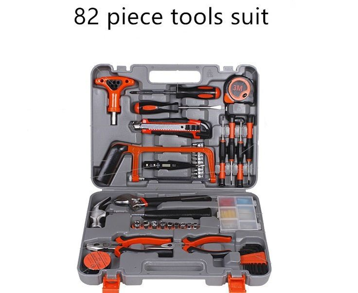 ==> [Free Shipping] Buy Best 82 piece Hardware hand tool set woodworking power tools toolbox home kit combination Gift Set Repair Multifunction Tools Online with LOWEST Price | 32605410425
