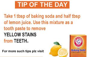 Tip Of The Day To Get Rid Of Yellow Stains From Teeth