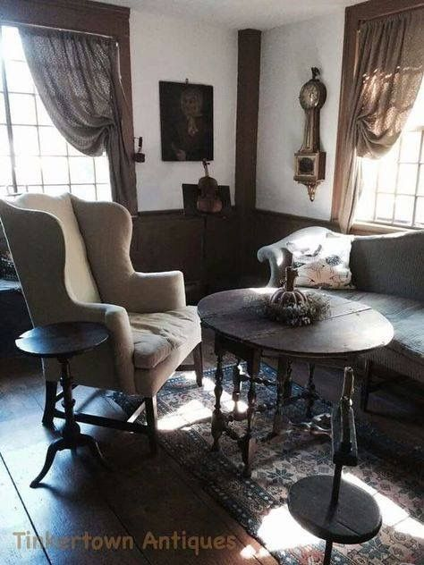 1000 Images About Primitive Colonial Rooms On Pinterest Primitive Living Room Fireplaces