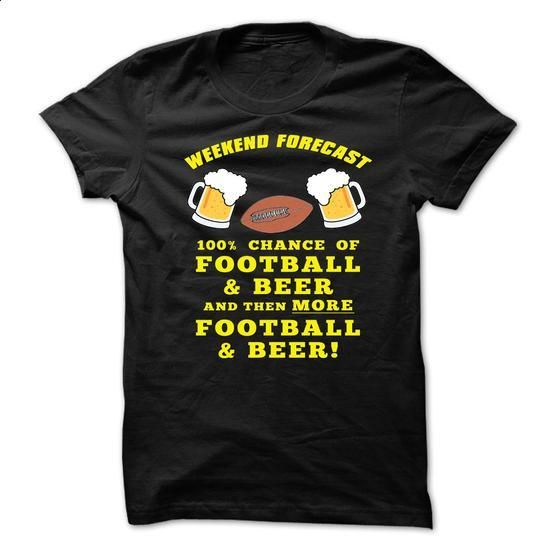 Weekend Forecast Football and Beer! - #shirt women #tumblr hoodie. ORDER NOW => https://www.sunfrog.com/Sports/Weekend-Forecast-Football-and-Beer.html?68278