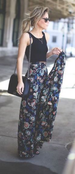 maxi skirts are perfect for lazy girl outfits that still look polished!