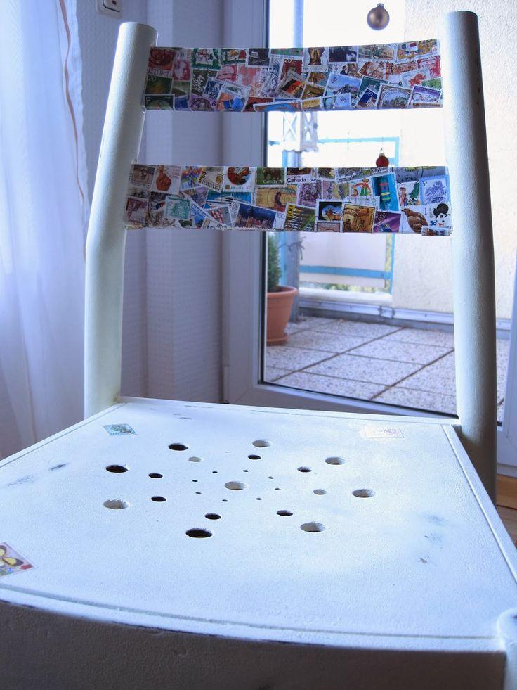 """DIY und die Freude an Selbstgemachtem!: So wird aus Briefmarken """"Kunst""""!"""