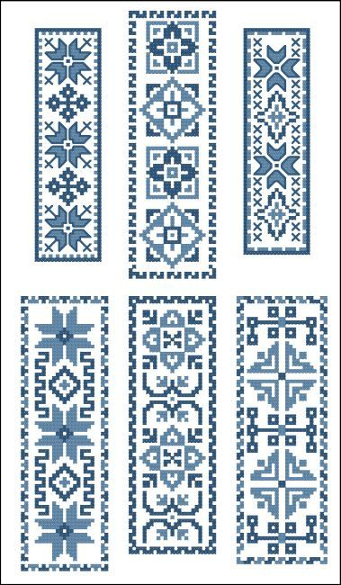 Victorian Bookmarks Blue Collection - Click Image to Close