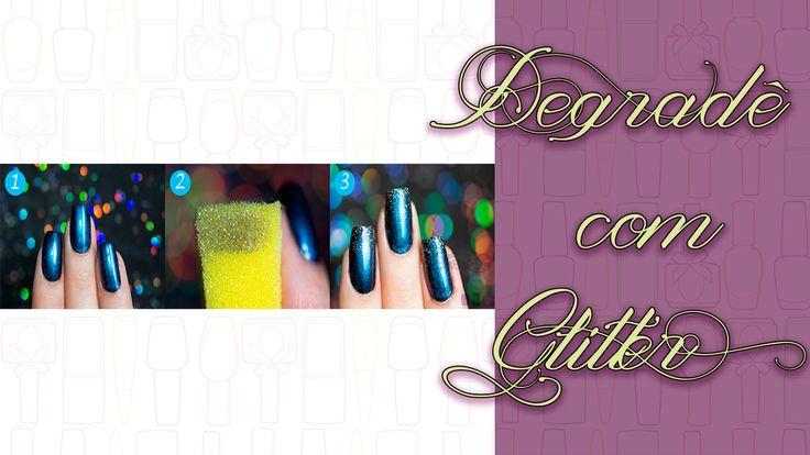 A Nail Art que ensino hoje é super fácil de fazer e te ajudará a manter por mais tempo suas unhas sem lascar nas pontinhas, vem conferir!   http://fascinioporesmaltes.com/passo-a-passo-degrade-com-glitter/