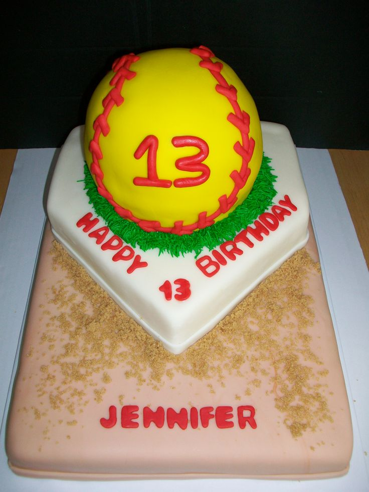 Softball Birthday Cake-I need to find someone who can make this for Jessica's party!