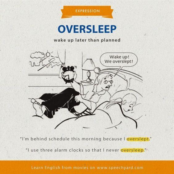 Non so te, ma per me questo è uno dei peggiori incubi! Di cosa parlo?  OVERSLEEP! Ovvero dormine più del dovuto! Per questo punto sempre almeno 5 sveglie la mattina!    VUOI IMPARARE L'INGLESE GRATIS e in 4 SEMPLICI PASSI? CLICCA QUI: https://www.imparalingleseconmonica.com/opt-in/  #Englishidioms #imparalingleseconmonica #learnenglishwithmonica #studyenglish #videolezioni #corsoprivatodiinglese  @learnenglishwithmonica Impara l'inglese con Monica