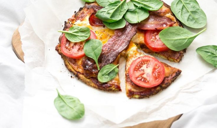 Zucchini Crusted Breakfast Pizza-feature
