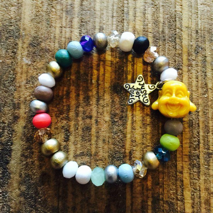 My first handmade baby buddha bracelet #buddhabracelet