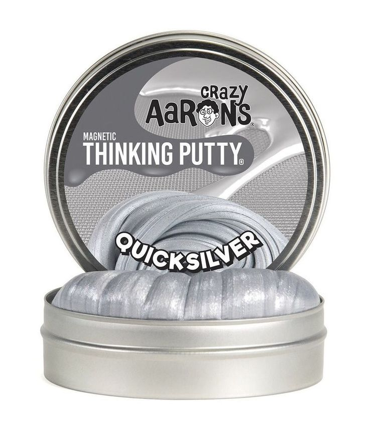 "Crazy Aaron's Thinking Putty Quick Silver 4"" Tin  