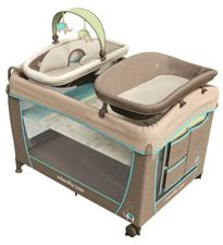 Ingenuity Washable Playard with Dream Centre This playard is all about luxury! It has all the amenities that baby and mom would want: toys, soothing songs, a changer, and an organizer tray. And it's machine washable, so it's easy to get the grime off. Plus, it easy to fold, making it great for trips to grandma's house. $120, Target.com