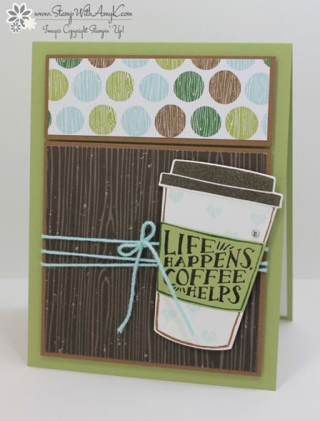 Stampin' Up! Coffee Cafe Coffee Helps Card – Stamp With Amy K