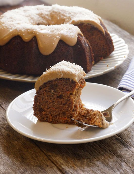Coconut Flour Carrot Cake (Dairy-free) | Detoxinista. This is a fantastic nut free recipe for school packed lunches.
