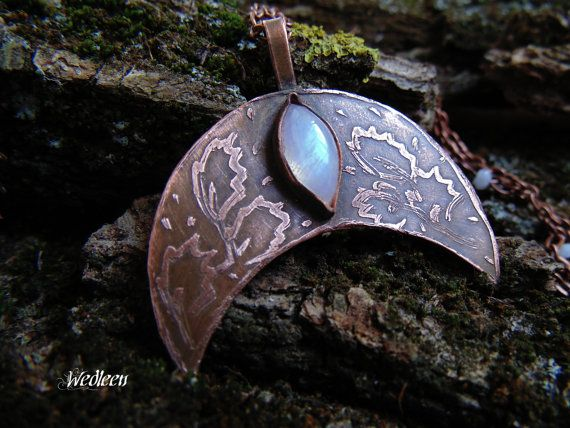 Moonstone pendant. Elven pendant. Fairy by JewellerybyWedleen