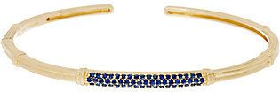 Judith Ripka 14K Gold Colors of Sapphire Cuff Bracelet
