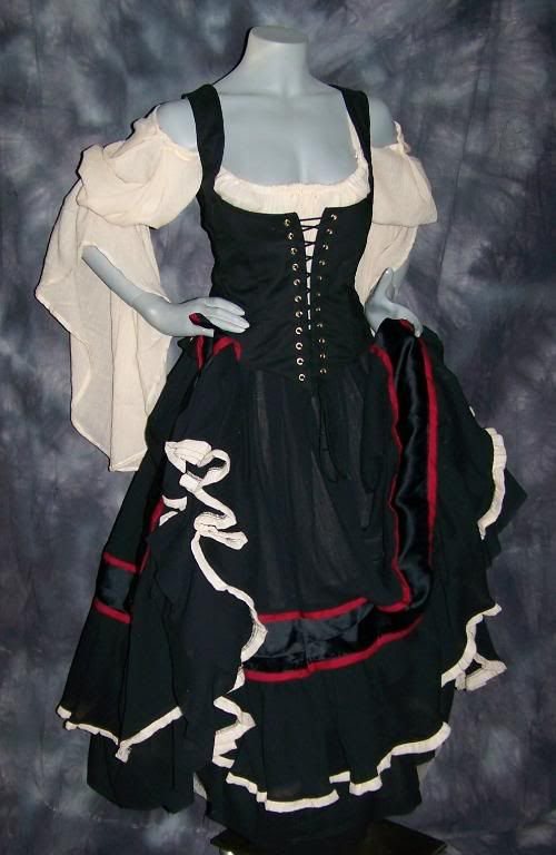 Gypsy Renaissance Pirate Gown Dress costume by zachulascrypt, $200.00