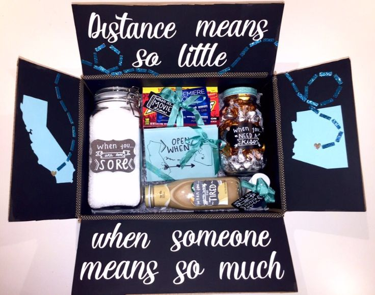 Long Distance Relationship Box Distance Gifts Long