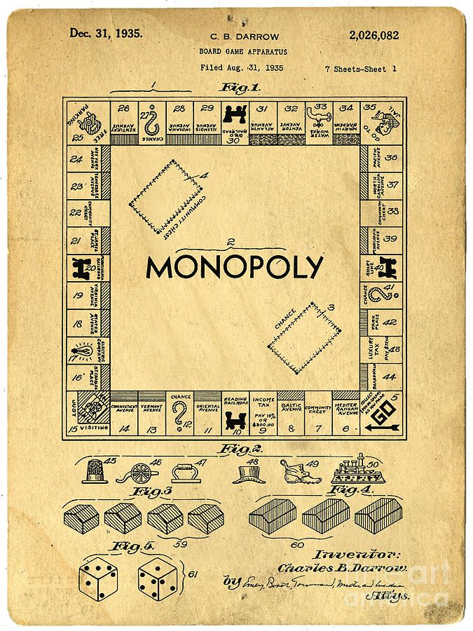 """Charles Darrow filed his original patent for """"a board game apparatus"""" in August 1935. Here's an excerpt from the application! """