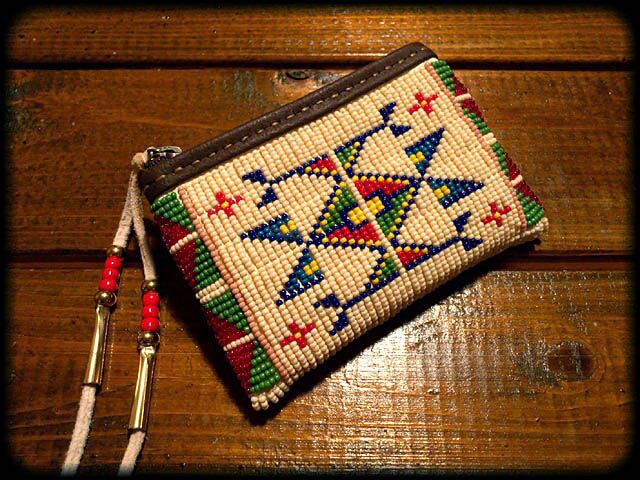 Beaded Key Coin Purse