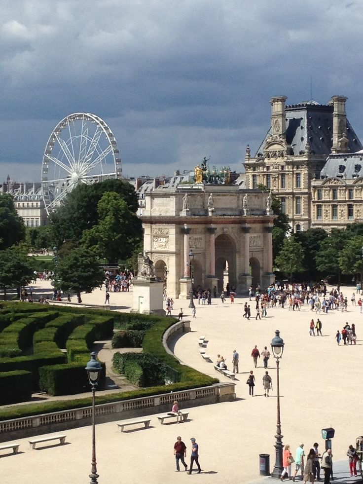 outside the Louvre, Paris, France. Enter here, not at the glass pyramid and you miss the long lines!