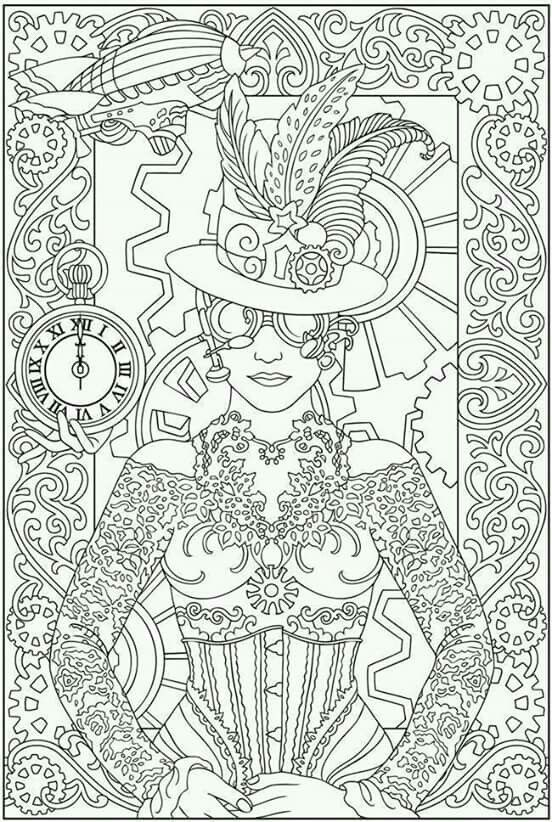 Dover Publications Creative Haven Steampunk Designs Coloring Book