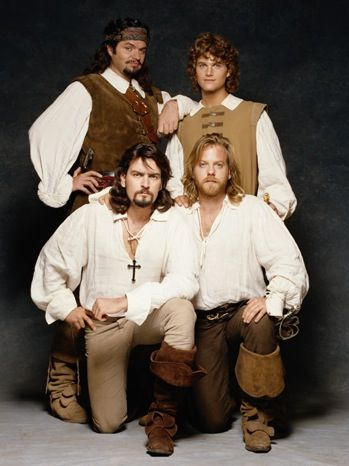 'The Three Musketeers' - 1993. Oliver Platt as Porthos; Chris O'Donnell as D'Atagnan; Charlie Sheen as Aramis, and; Kiefer Sutherland as Athos