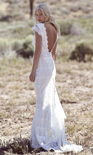 2018s era trumpet lace wedding dress