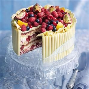 White chocolate and raspberry marquise