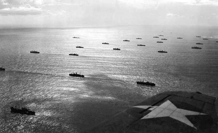 An Allied convoy, escorted by sea and air, plowed through the seas toward French North African possessions near Casablanca, French Morocco, in November of 1942, part of Operation Torch, the large British-American invasion of French North Africa. ALL ACROSS NORTH AFRICA...THANK YOU DAD.