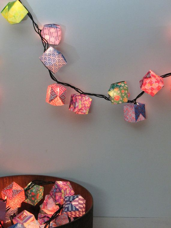 Origami Paper Lanterns - Set of 25 - Assorted Patterns. $18.00, via Etsy.